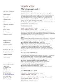 market research analyst cv sample