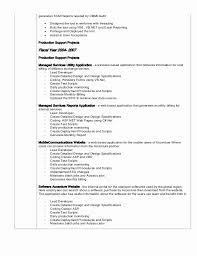 Net Developer Resume New Production Support Resume For Dot Net Elegant Resume For Dot Net