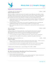 Sample Resume For Web Designer Adorable Sample Resume Of Graphic Designer Demireagdiffusion