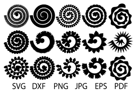 Flowers Templates Rolled Flower Svg Flowers Template Rolled Paper Flowers Svg Flowers