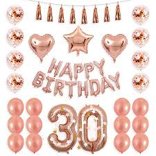 <b>40inch Rose Gold 13</b> 15 17 20 21 25th Number Balloon Happy 30 ...