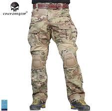Men Camouflage Hunting Pants Emersongear G3 Multicam