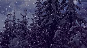 Animated Snow Scenes Snow Falling Motion Effect Christmas Background Video