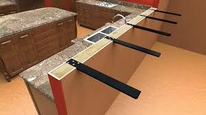 granite countertop overhang support stun ogesi co interior design 2