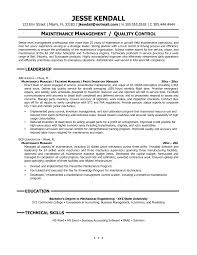 Facilities Maintenance Manager Resume Example Pictures Hd
