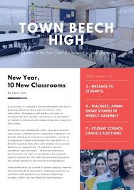 Red And White Modern Back To School Newsletter Templates By Canva