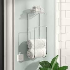 Bath towel hanger Small Bathroom Espana Wall Mounted Towel Rack Wayfair Hanging Towel Rack Wayfair