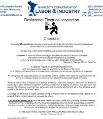Residential Electrical Inspection Checklist Pdf