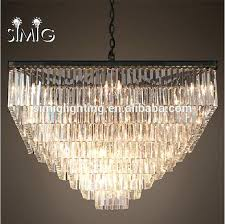 square crystal chandelier modern luxury for creative villa hotel drum shade pendant light square crystal chandelier