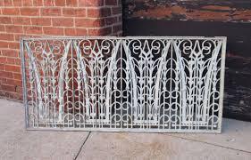 Decorative Metal Grates Vtg Large Art Deco Decorative Cast Aluminum Window Guard Vent