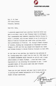 Letter To Airline Challenger Airlines