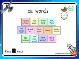 The teacher is able to support and guide the children through the books with the jolly. Ck Worksheets And Games Galactic Phonics