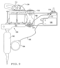 Diagram medium size patent us6550356 tattoo technology patents drawing connecting electrical wires dual