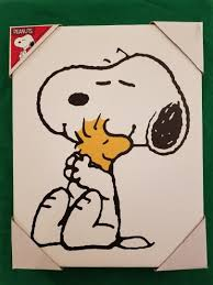 peanuts canvas wall art artissimo snoopy and woodstock charlie brown 11x14 new 1925497747