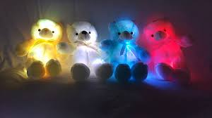 Glow In The Dark Teddy Bear Night Light Led Light Up Glow Teddy Bear Pillow