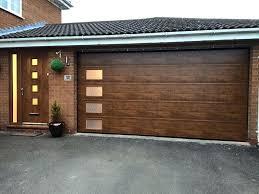 garage side door sectional garage door in golden oak with windows down one side perfect match garage side door