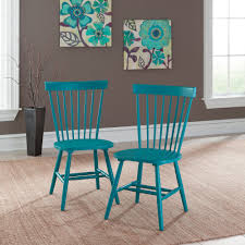 absolutely teal kitchen chair cottage road spindle back 415835 sauder leather table blue wooden