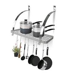 kitchen pot pan hanger rack shelf hooks