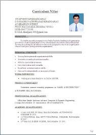 Simple Resume Format For Freshers In Word File Gentileforda Com