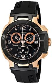 tissot t race rose gold t0484172705706 45 automatic stainless tissot t race rose gold t0484172705706 45 automatic stainless steel case black rubber men s watch amazon co uk watches