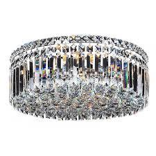 crystal flush ceiling lights chrome large rotondo chandelier