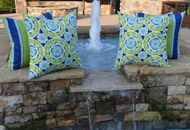 blue and green throw pillows. Amazon.com: Set Of 4 - Indoor / Outdoor 20\ Blue And Green Throw Pillows W