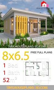 bedrooms shed roof tiny house plans