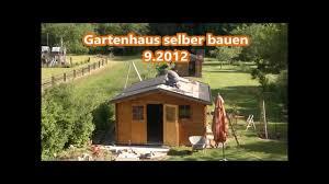 Gartenhaus selber bauen + Preis € - YouTube