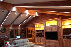 strip lighting ideas. Livingroom With RGB Flexible LED Strips Running Along The Beams For Lighting And Color Chaning Effects Strip Ideas U