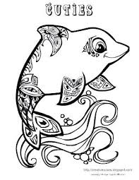 Coloring Page Dolphin Creative Cuties Dolphin Coloring Page Dolphin