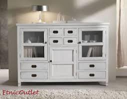 Armadio Shabby Chic Ebay : Buffet credenza legno massello bianco shabby chic credenze
