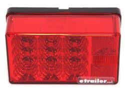 6x4 inch led trailer tail lights that mount on studs on 2 inch led tail light for trailers over 80 wide 7 function submersible red