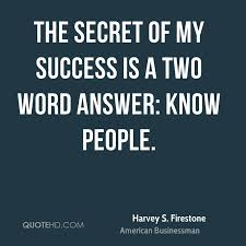 Two Word Quotes Beauteous Harvey S Firestone Success Quotes QuoteHD