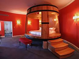 Red Bedroom Bench Bedroom Unique Bedroom With Huge Brown Wine Cellar Bed Feat