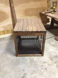 spacious coffee table dog crate beautiful dog cage with a table built over it