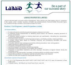 Labaid Properties Limited - Civil Engineer - Job Opportunity | Vacancy