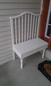 Bench Out Of Headboard Best 25 Crib Bench Ideas On Pinterest Reuse Cribs Old Cribs