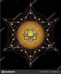 Lotus Posvátné Geometrie ájurvéda Symbol Harmonie Rovnováhy Vesmíru