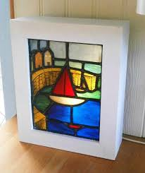 cornwall stained glass light box by sedgwickstainedglass on 140 00