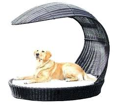 Outdoor Dog Bed Beds Indoor Heavy Duty Waterproof With Shade Cover ...