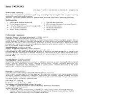 Resume Sample Resume For Medical Laboratory Technician Best