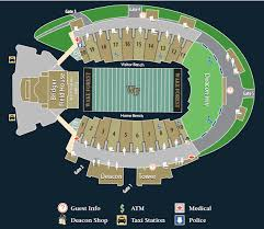 Wake Forest Stadium Seating Chart Wake Forest Demon Deacons 2008 Football Schedule
