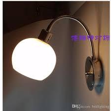 adjustable lighting fixtures. 2018 Modern Wall Lamps For Bedroom Bathroom Lighting Glass Shade Adjustable Arm Fixtures