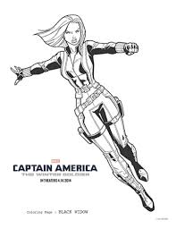 Captain America The Winter Soldier Black Widow Coloring Page Mama