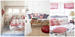 Red And Blue Living Room Decor Patriotic Decor 4th Of July Red White And Blue Decorating Ideas