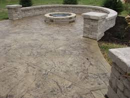 plain concrete patio. Curved Patio With Fire Pit And Wall, Palm Springs, CA, 92262 Plain Concrete