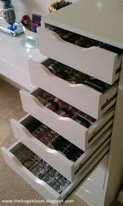 The Frugal Closet: The IKEA Alex Storage On my wish list ! Make up  organization