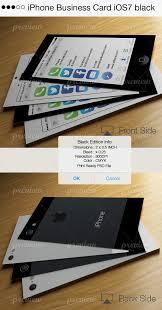 Iphone Business Card Ios7 Black Print Codegrape