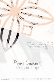 Concert Flyer Templates Free Piano Concert Flyer Template Postermywall Concert Flyer