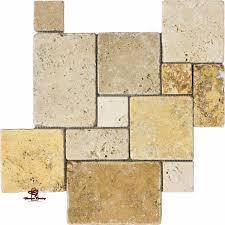 mix opus mini french pattern travertine tile mosaic